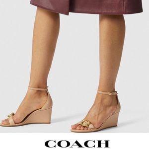 COACH Odetta Wedge Sandal
